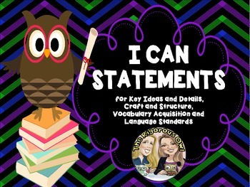 I Can Statements for 4th Grade Language Arts