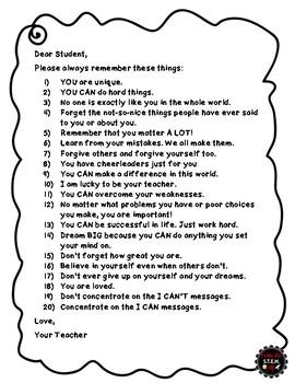 Self-Esteem Activity: Craft and Writing