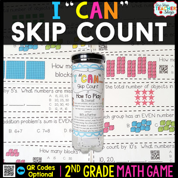 2nd Grade Skip Counting Game | Odd & Even Numbers | Arrays