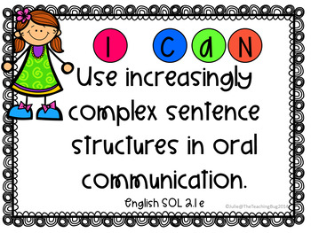 I CAN Standards of Learning (SOL) signs- Second Grade