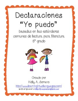 I CAN Statemements ( 5th grade / Literature / Spanish)