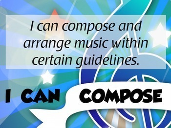 I CAN Statement Posters based on the National Standards for Music Education