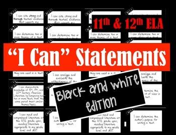 I CAN Statements: 11-12 ELA