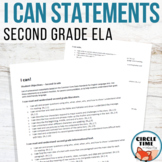 I CAN Statements 2nd Grade ELA Common Core Standards