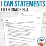 I CAN Statements - 5th Grade Common Core Standards for ELA