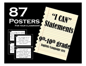 I CAN Statements: 9-10 ELA