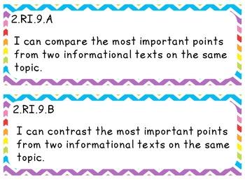 """I CAN"" Statements - ELA 2nd Grade"