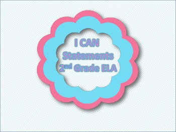 """I CAN"" Statements - ELA 2nd Grade"