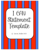 I CAN Statements Fill- In