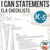 ELA I Can Statements, K-5