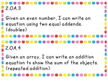 """I CAN"" Statements - Math 2nd Grade"