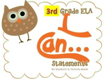 """I CAN"" Statements in OWL Theme-3rd Grade Reading"