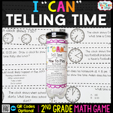 2nd Grade Telling Time to the Nearest 5 Minutes Game