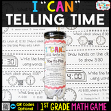 1st Grade Telling Time to the Hour and Half Hour Game