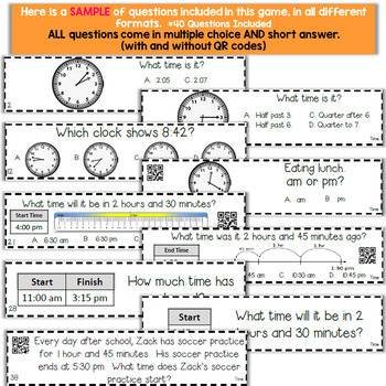 3rd Grade Telling Time & Elapsed Time Game