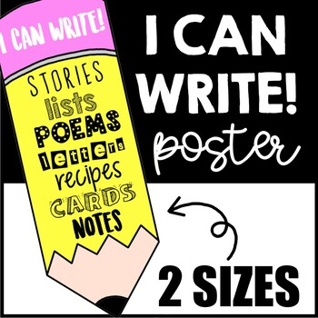 I CAN WRITE PENCIL POSTER