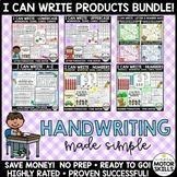 I CAN WRITE!  Uppercase, Lowercase, Numbers - Handwriting