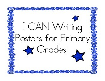 Writing Goals Clip Chart - Primary Grades