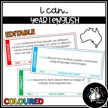 I CAN | YEAR 1 ENGLISH (COLOURED)