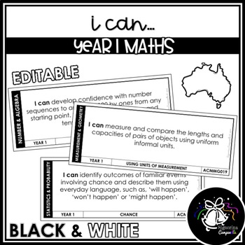 I CAN | YEAR 1 MATHS (BLACK & WHITE)