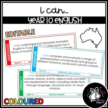 I CAN | YEAR 10 ENGLISH (COLOURED)