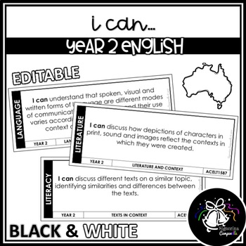 I CAN | YEAR 2 ENGLISH (BLACK & WHITE)