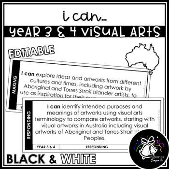 I CAN | YEAR 3 & 4 VISUAL ARTS (BLACK & WHITE)
