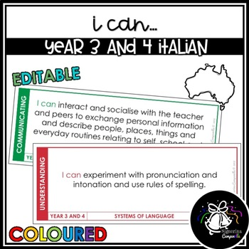 I CAN   YEAR 3 AND 4 ITALIAN (COLOURED)