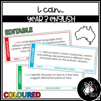 I CAN | YEAR 3 ENGLISH (COLOURED)