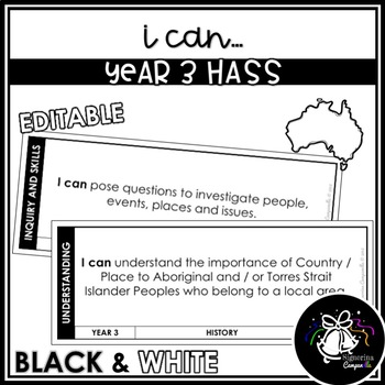I CAN | YEAR 3 HASS (BLACK & WHITE)