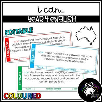 I CAN | YEAR 4 ENGLISH (COLOURED)