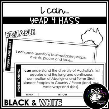 I CAN | YEAR 4 HASS (BLACK & WHITE)
