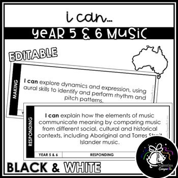 I CAN | YEAR 5 & 6 MUSIC (BLACK & WHITE)