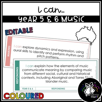 I CAN | YEAR 5 & 6 MUSIC (COLOURED)