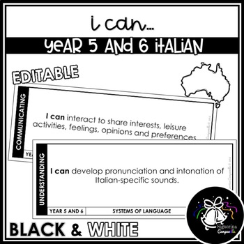 I CAN | YEAR 5 AND 6 ITALIAN (BLACK & WHITE)