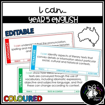 I CAN | YEAR 5 ENGLISH (COLOURED)