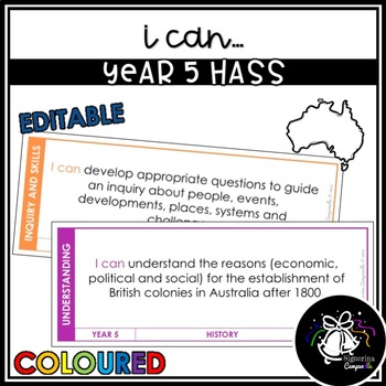 I CAN | YEAR 5 HASS (COLOURED)