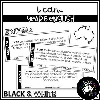 I CAN | YEAR 6 ENGLISH (BLACK & WHITE)
