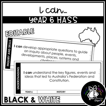 I CAN | YEAR 6 HASS (BLACK & WHITE)