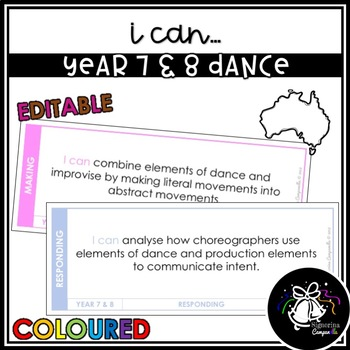I CAN   YEAR 7 & 8 DANCE (COLOURED)