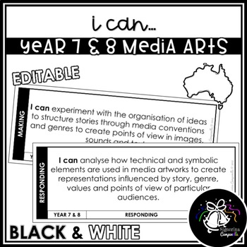 I CAN | YEAR 7 & 8 MEDIA ARTS (BLACK & WHITE)