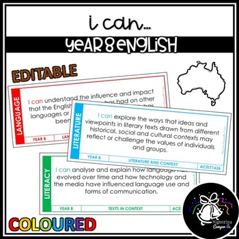 I CAN | YEAR 8 ENGLISH (COLOURED)