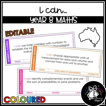 I CAN | YEAR 8 MATHS (COLOURED)