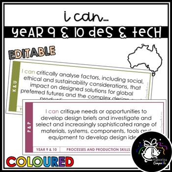 I CAN   YEAR 9 & 10 DESIGN & TECHNOLOGIES (COLOURED)