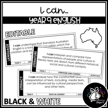 I CAN | YEAR 9 ENGLISH (BLACK & WHITE)