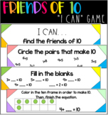 I CAN friends of 10 math game