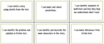 I CAN/Objective charts for reading