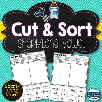 I Can Sort Long/Short Vowel Words!