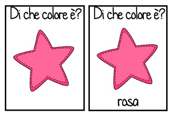 I COLORI colour color flashcards in ITALIAN lote
