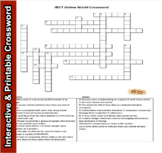 I&CT - Unit 1 Online World Crossword  Level 2 Learning Outcome A